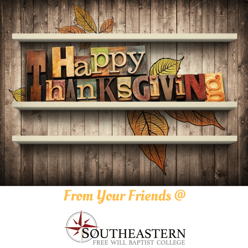 Southeastern Wishes You a Happy Thanksgiving!