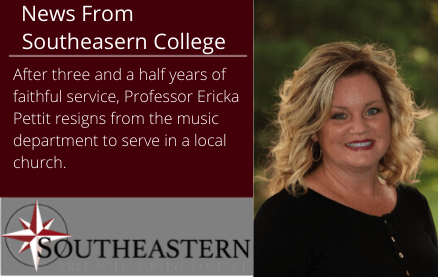 News from Southeastern – Thank You Ericka Pettit